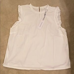 Popsugar white blouse size XL